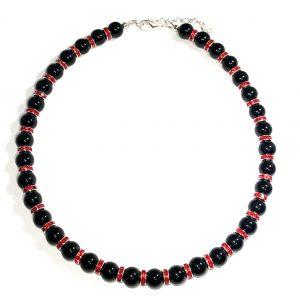 rød-sort-bling-jul-smykke-halskjede