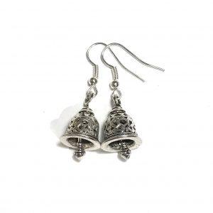 sølv-bjelle-jul-øreanheng-ørepynt