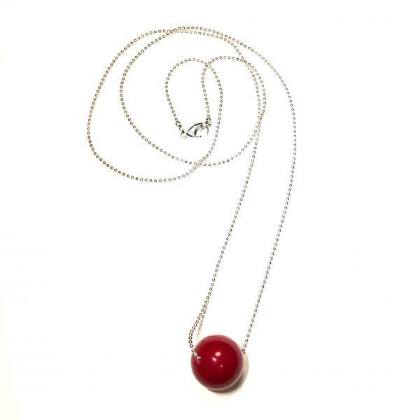 rød-kule-smykke-halskjede