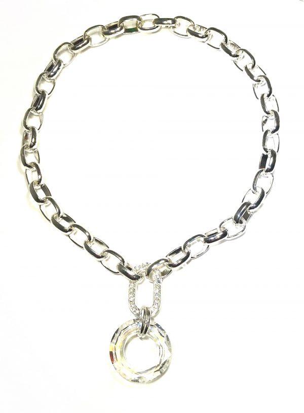 lekkert-blank-glass-kraftig-lenke-smykke-halskjede