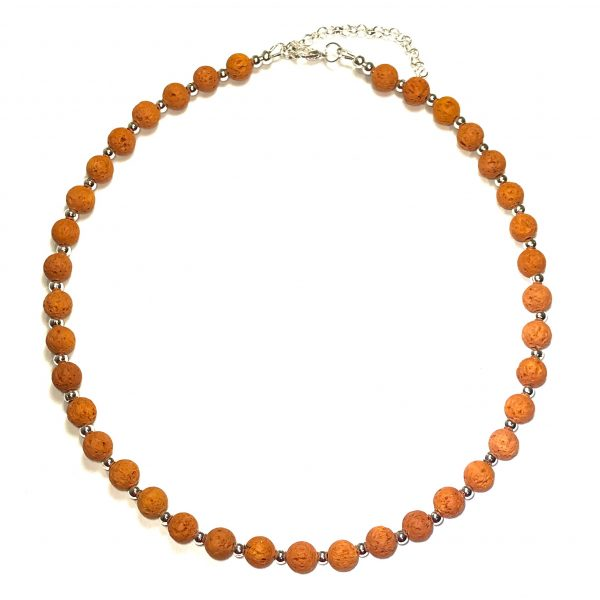 brun-lava-smykke-halskjede