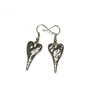 sølv-hjerte-øreanheng-ørepynt