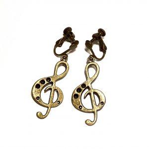 bronse-gnøkkel-musikk-klips-ørepynt-øredobber-øreklips