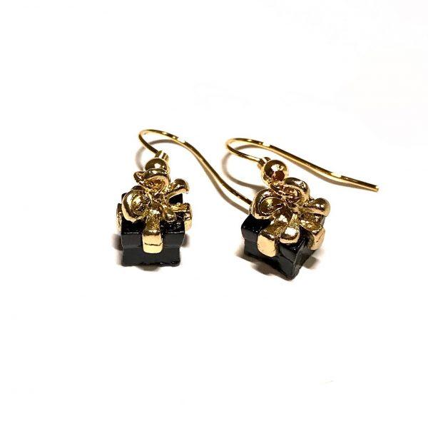 gull-sort-gave-jul-øreanheng-ørepynt