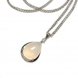 hvit-agat-smykke-halskjede