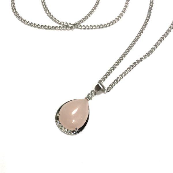 rosa-rosenquartz-smykke-halskjede