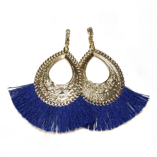 blå-gull-bohem-øreanheng-ørepynt