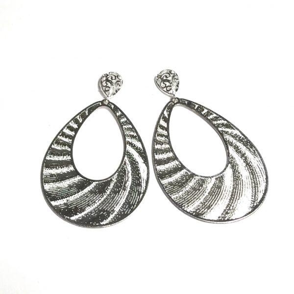 sølv-dråpe-øreanheng-ørepynt