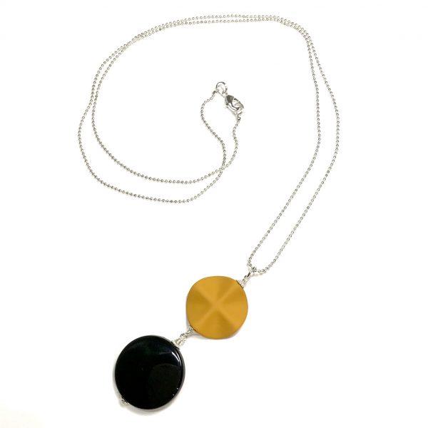 oker-gul-smykke-halskjede