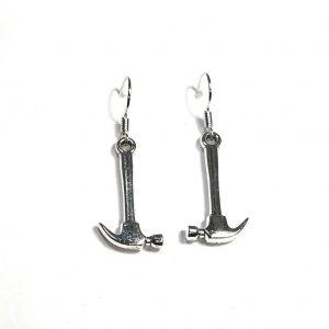 hammer-verktøy-morsom-sølv-øreanehng-ørepynt