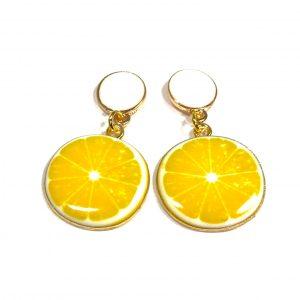 sitron-gul-hvit-ørepynt-øreanheng