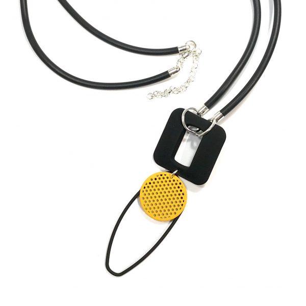sort-gummi-gul-tøff-smykke