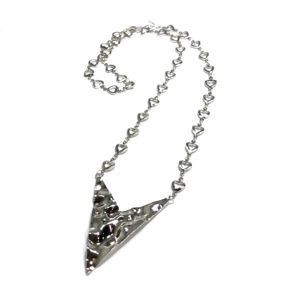 pil-spiss-sølv-hjerte-smykke-halskjede