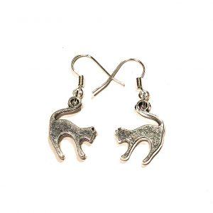 katt-pus-sølv-morsom-øreanheng-ørepynt