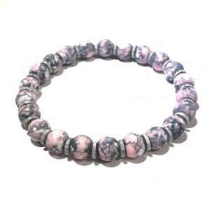 rosa-grå-sommer-glass-elastisk-armbånd