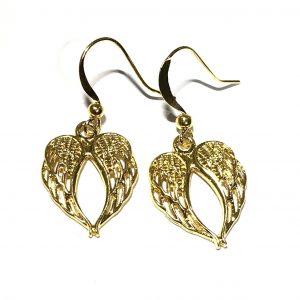 gull-engel-vinge-jul-øreanheng-ørepynt