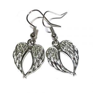 sølv-engel-vinge-jul-øreanheng-ørepynt
