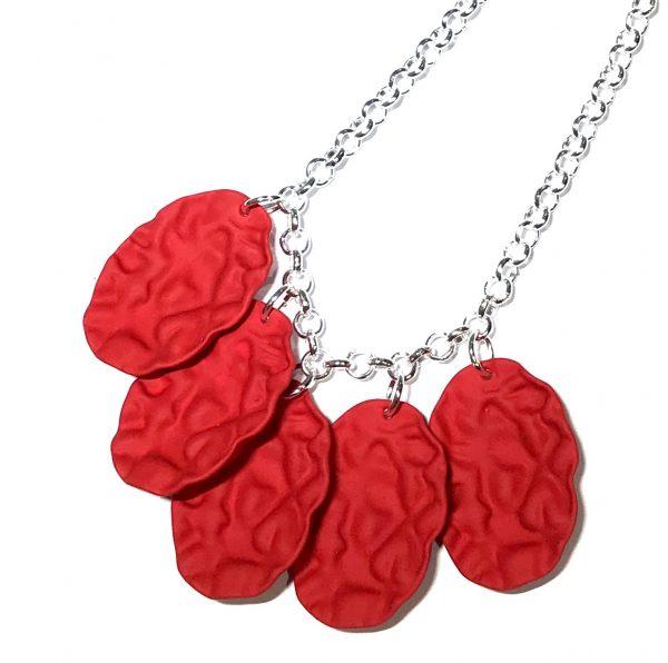 rød-sølv-smykke