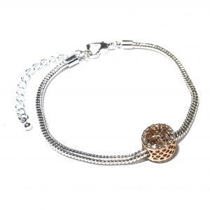 sølv-rosegull-glitter-rhinsten-armbånd