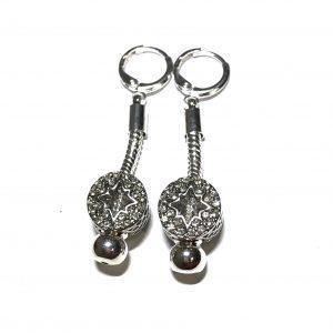 stjerne-bling-sølv-øreanheng-ørepynt