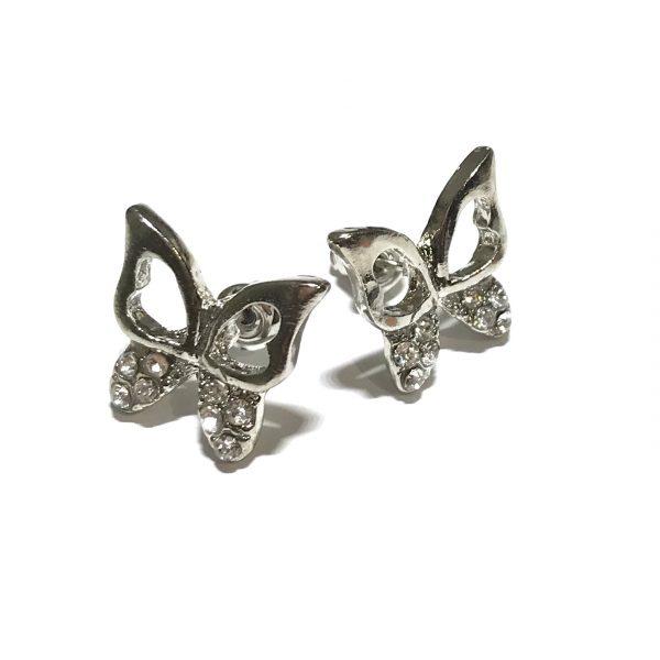sølv-sommerfugl-insekt-øredobber-ørepynt