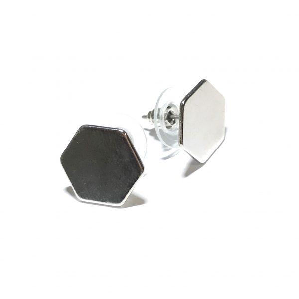 sølv-hexagon-øredobber-ørepynt
