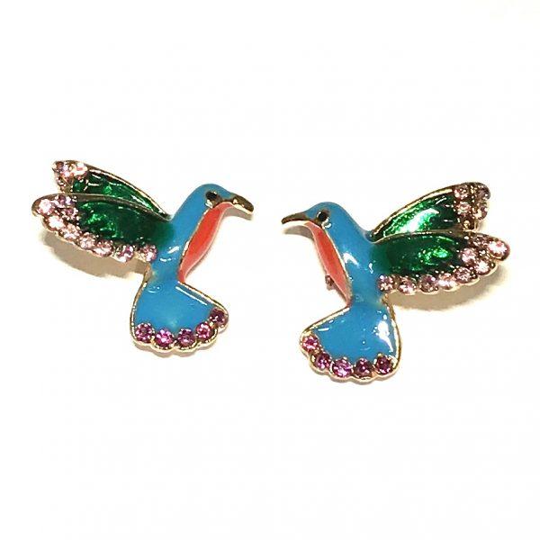 fargerik-fugl-kolibri-bling-øredobber-ørepynt
