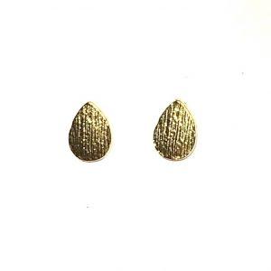 gull-små-dråpe-øredobber