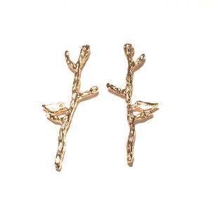 gull-fugl-gren-øredobber-ørepynt