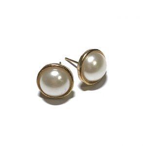 gull-perle-øredobber-ørepynt