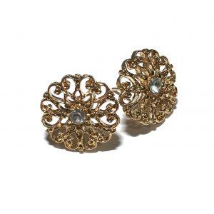 gull-blomst-øredobber-ørepynt