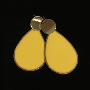 gull-gul-dråpe-øreanheng-ørepynt