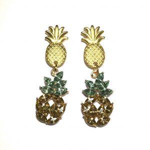 morsom-sommer-ananas-øreanheng-ørepynt