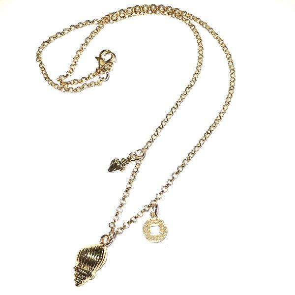 skjell-perle-maritim-smykke-halskjede