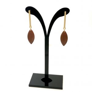 brun-matt-gull-øreanheng-ørepynt