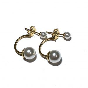 hvit-perle-dobbel-ørepynt-øredobber-øreanheng