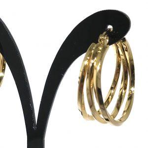 gull-titan-stål-twist-øreringer-ørepynt