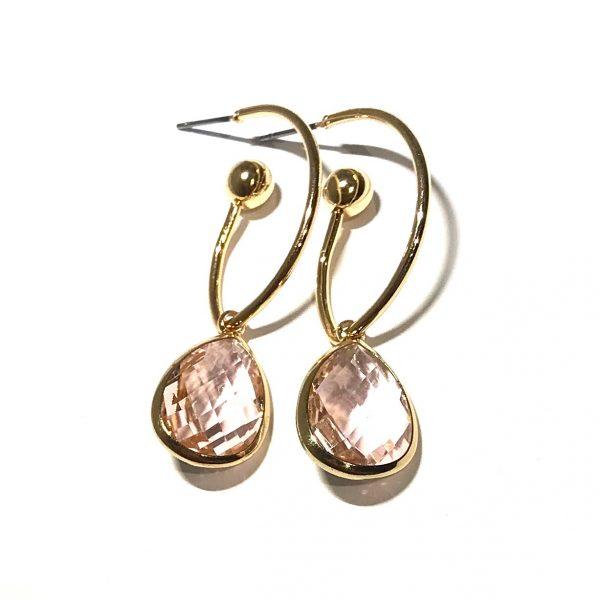 gull-rosa-øreanheng-ørepynt