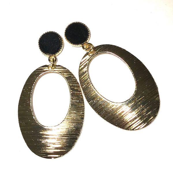 oval-gull-øreanheng-ørepynt