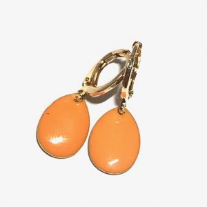 14K-gull-orange-dråpe-øreringer-ørepynt