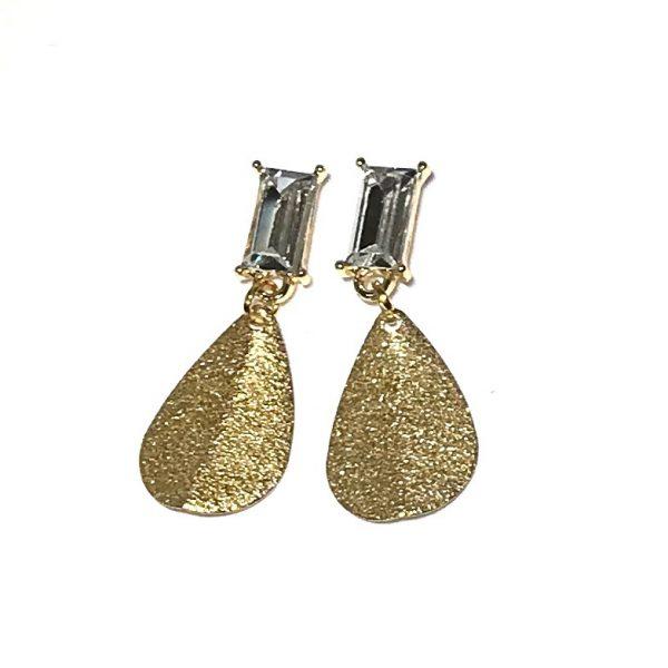 gull-bling-glitter-elegant-øreanheng-ørepynt