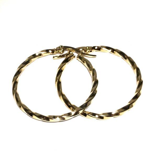 gull-twisted-hoop-øreringer-ørepynt
