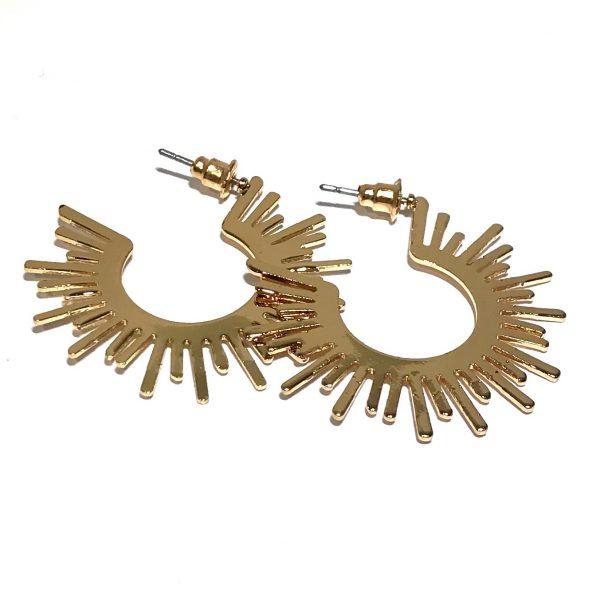 gull-spike-øreringer-ørepynt