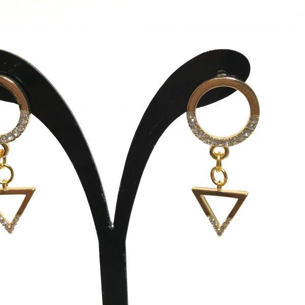 gull-bling-glitter-elegant-klassisk-øreanheng-ørepynt