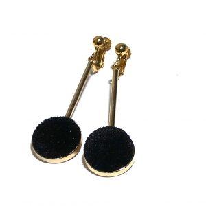 gull-sort-velour-fløyel-øreanheng-øreklips-klips-øredobber-ørepynt
