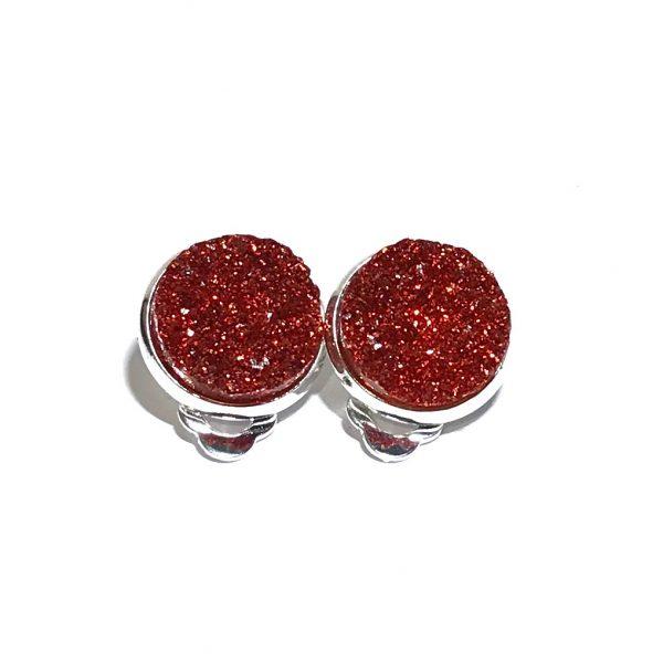 rød-glitter-klips-øredobber-ørepynt-øreklips
