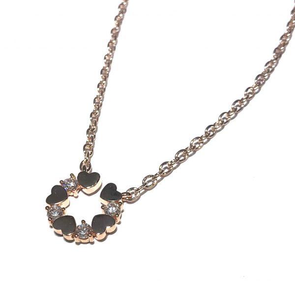 rosegull-zirkonia-hjerte-smykke-halskjede