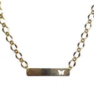 sommerfugl-gull-smykke-halskjede