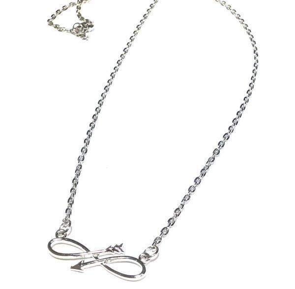 sølv-infinity-smykke-halskjede