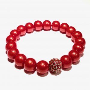 rød-perle-glitter-armbånd